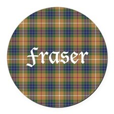 Tartan - Fraser hunting Round Car Magnet