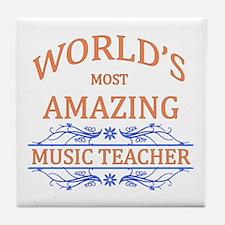 Music Teacher Tile Coaster
