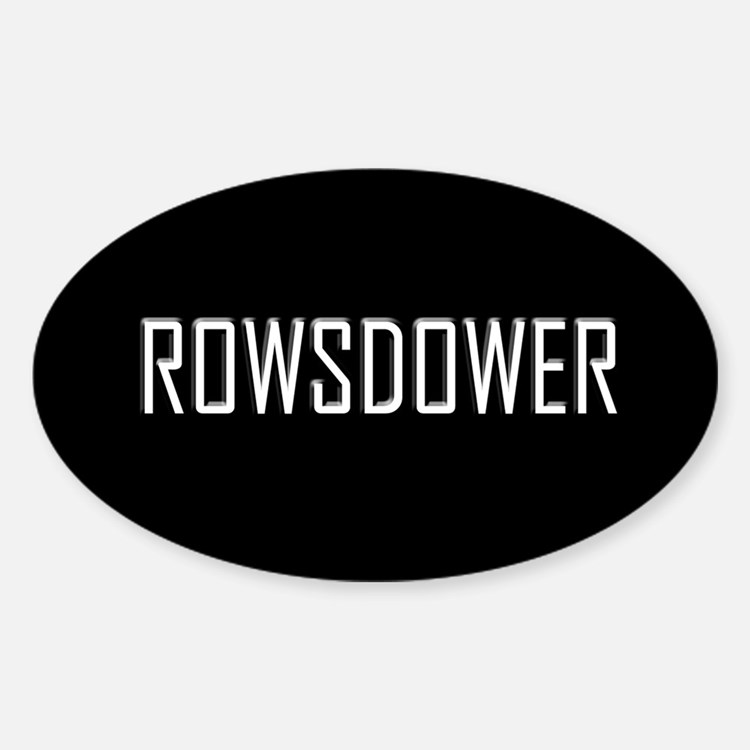 Rowsdower Oval Decal