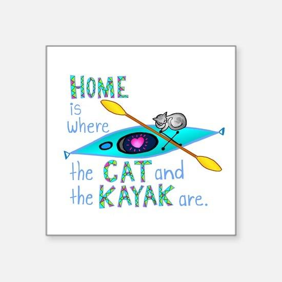 """Cute Cat designs Square Sticker 3"""" x 3"""""""