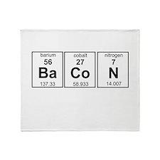Bacon periodic table Throw Blanket