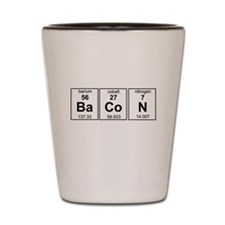 Bacon periodic table Shot Glass