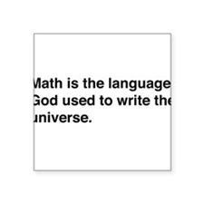 Math god universe Sticker