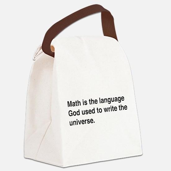 Math god universe Canvas Lunch Bag