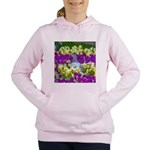 Pigeon and Pansies Women's Hooded Sweatshirt