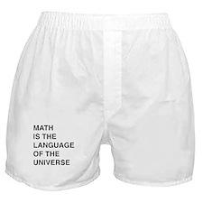 Math language of the universe Boxer Shorts