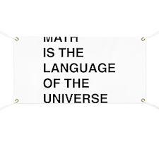 Math language of the universe Banner