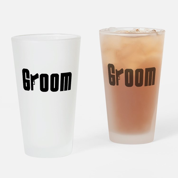 Mob Groom Drinking Glass