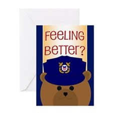 Coast Guard Feel Better Card Greeting Cards