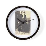 Etta and Sundance Wall Clock
