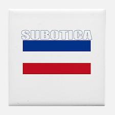 Subotica, Serbia & Montenegro Tile Coaster