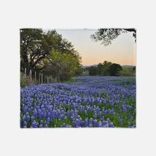 Unique Texas bluebonnets Throw Blanket