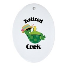 Retired Cook Ornament (Oval)