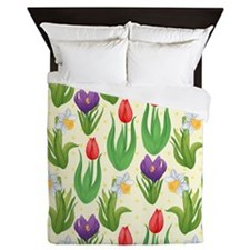 Pretty Tulip Pattern Queen Duvet