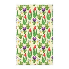 Pretty Tulip Pattern 3'x5' Area Rug