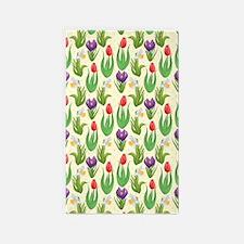 Pretty Tulip Pattern 3'x5' Area Rug