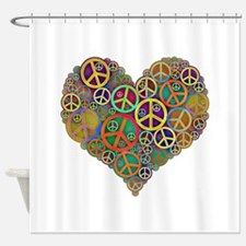 Unique Peace on earth Shower Curtain