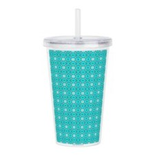 Cyan Owls Design Acrylic Double-wall Tumbler