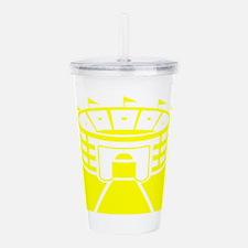 Yellow Stadium Acrylic Double-wall Tumbler