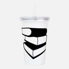 Stack of Black Books Acrylic Double-wall Tumbler