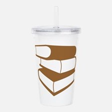 Stack of Brown Books Acrylic Double-wall Tumbler