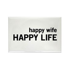 Happy Wife, Happy Life Magnets
