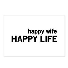 Happy Wife, Happy Life Postcards (Package of 8)