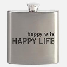 Happy Wife, Happy Life Flask