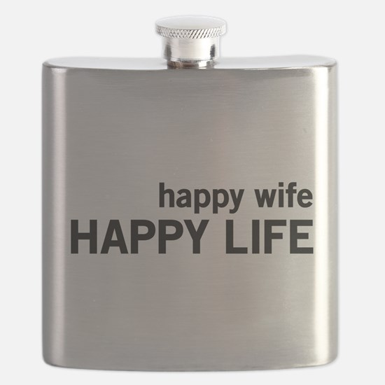Happy Wife, Happy Life Flask