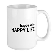 Happy Wife, Happy Life Mugs