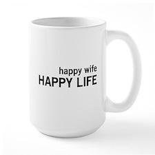 Happy Wife, Happy Life Mugs