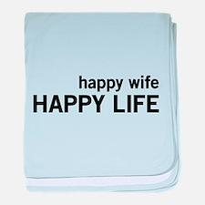 Happy Wife, Happy Life baby blanket