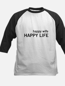 Happy Wife, Happy Life Baseball Jersey