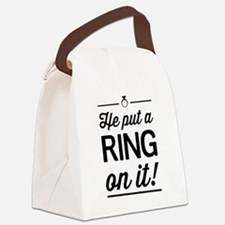 He Put a Ring on It Canvas Lunch Bag