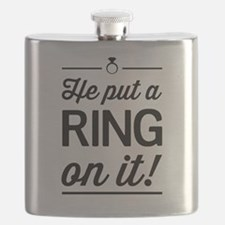 He Put a Ring on It Flask