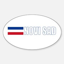 Novi Sad, Serbia & Montenegro Oval Decal