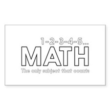 math only subject that counts Decal