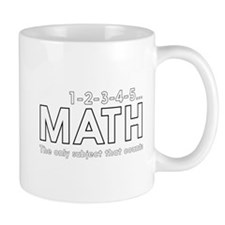 math only subject that counts Mugs