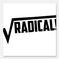 "Math radical square root Square Car Magnet 3"" x 3"""