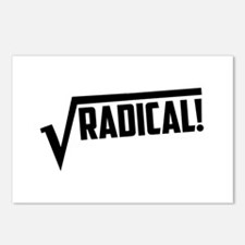 Math radical square root Postcards (Package of 8)