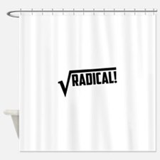 Math radical square root Shower Curtain