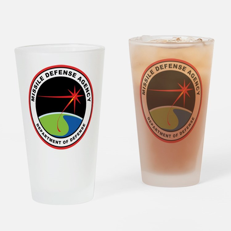 Missile Defense Agency Logo Drinking Glass