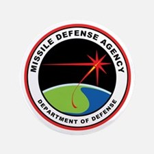 "Missile Defense Agency Logo 3.5"" Button"