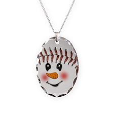 SNOWMAN BASEBALL Necklace