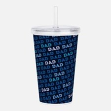 Dad Pattern Acrylic Double-wall Tumbler