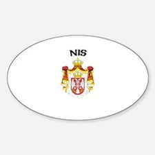 Nis, Serbia & Montenegro Oval Decal