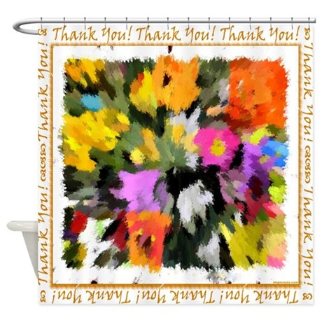 Thank You Unisex Note Shower Curtain By Khoncepts2