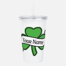 Shamrock CUSTOM TEXT Acrylic Double-wall Tumbler