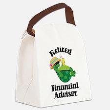 Retired financial advisor Canvas Lunch Bag