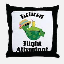 Retired Flight attendant Throw Pillow